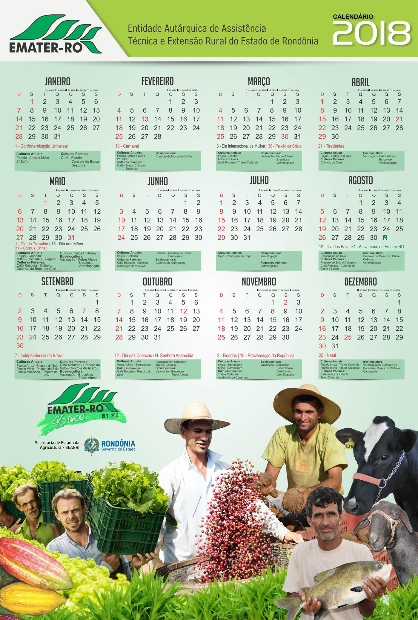 Calendario Emater 2018 ESSE