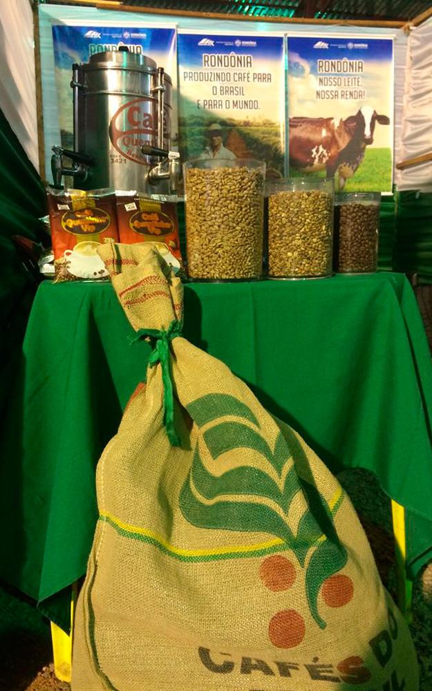 Café de Rondônia para degustação.