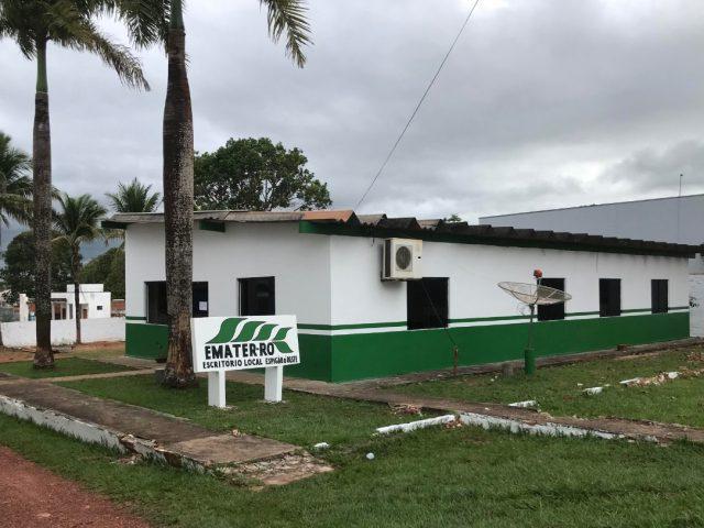 Escritório da Emater-RO em Espigão do Oeste é reestruturado para melhorar o atendimento aos produtores da região