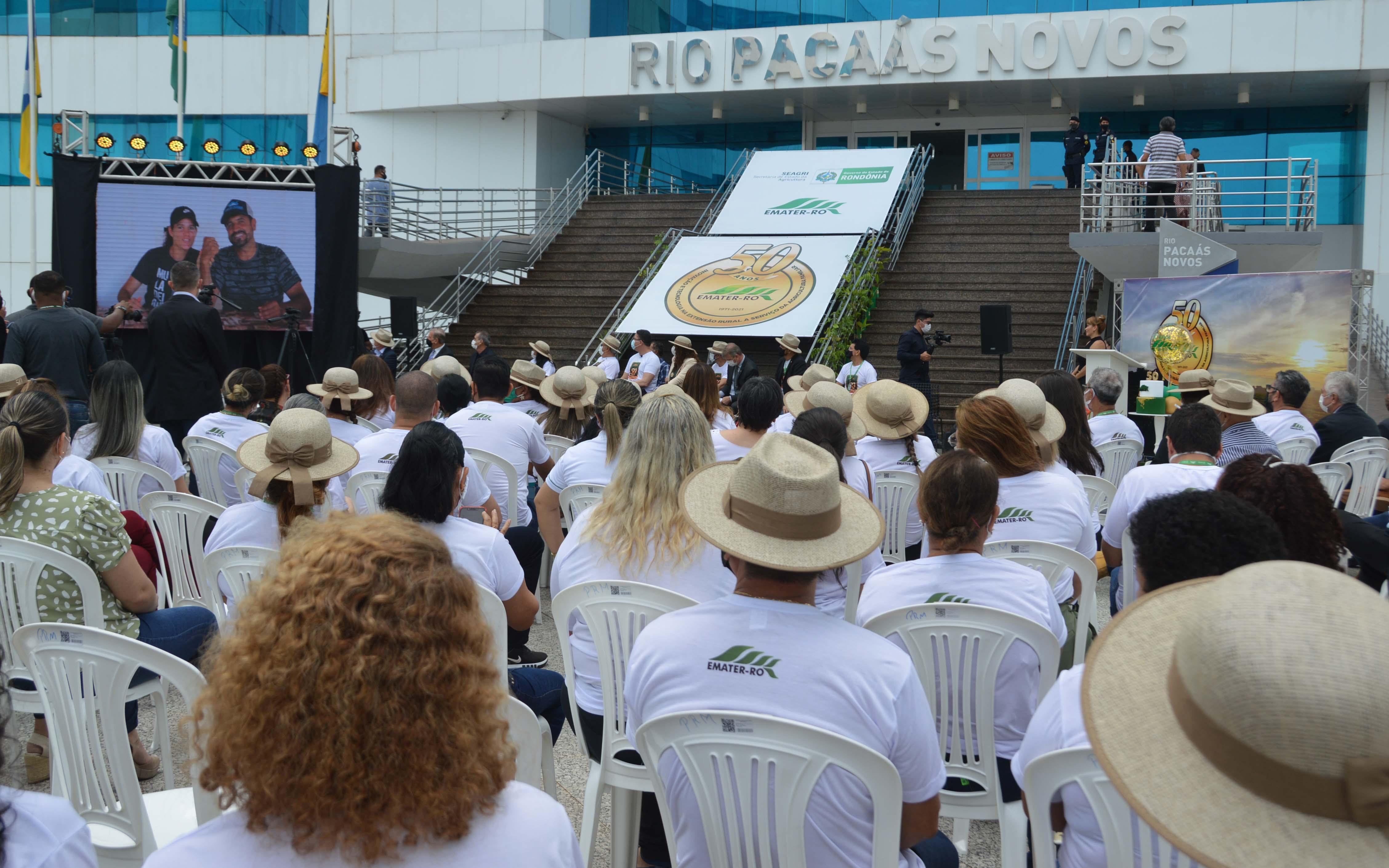 Celebração dos 50 anos da Emater foi realizado no no Palácio Rio Madeira, sede do Governo de Rondônia.