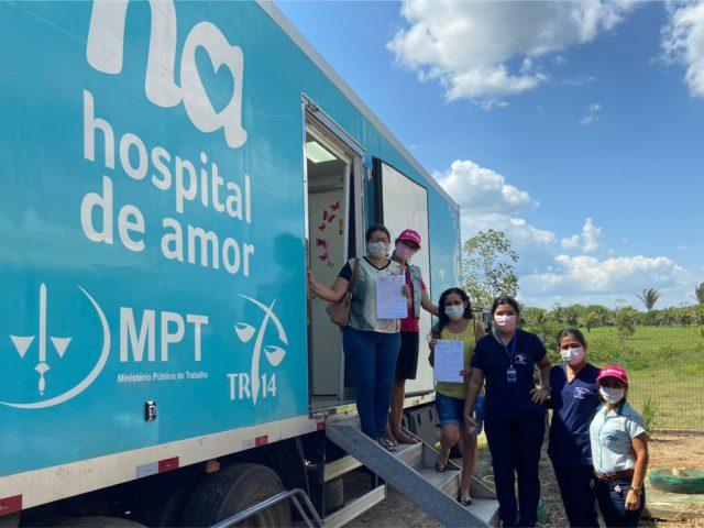 Emater-RO realiza atividades voltadas para a saúde das famílias rurais durante Dia Especial em Ji-Paraná.